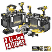 Dewalt DCK692M3 Dewalt 18v 4.0Ah XR Li-ion 6 Piece Pack (3 Speed Drill)