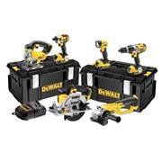 Dewalt DCK694P3 18v XR 6 Piece Kit with 3 x 5Ah Batteries, Charger and 2 x Cases