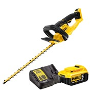 Dewalt DCMHT563 Dewalt DCMHT563 18V XR Brushless Hedge Trimmer with 1 x 5Ah Battery