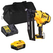 Dewalt DCN660ITS Dewalt DCN660ITS 18V XR Brushless 2nd Fix Finishing Nail Gun with 1 x 4Ah Battery, Charger and Bag