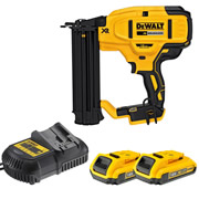 Dewalt DCN680D2 18v XR Brushless Second Fix Finishing Brad Nail Gun with 2 x 2Ah Batteries, Charger and Case