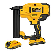 Dewalt DCN681D2-GB Dewalt 18v XR Brushless 18G Narrow Crown Stapler 2 x 2.0Ah Batteries