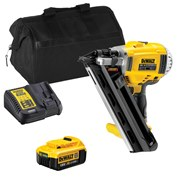 Dewalt  Dewalt First Fix Framing Nail Gun With 1 x 4Ah Battery, Charger and Bag