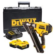 Dewalt DCN694P2 18v XR Positive Placement Nail Gun with 2 x 5Ah Batteries, Charger and Case