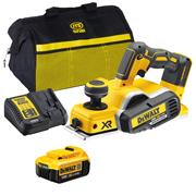 Dewalt DCP580ITS 18v XR Brushless Planer with 1 x 4Ah Battery, Charger, Bag and Accessory Set