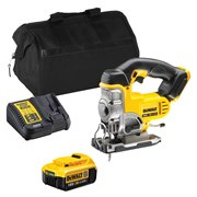 Dewalt DCS331ITS Dewalt DCS331ITS 18V XR Jigsaw with 1 x 4Ah Battery, Charger and Bag