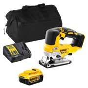 Dewalt DCS334ITS Dewalt DCS334ITS 18V XR Brushless Jigsaw with 1 x 4Ah Battery, Charger and Bag