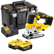 Dewalt DCS334P2-GB 18v XR Brushless Jigsaw with 2 x 5Ah Batteries, Charger and Case