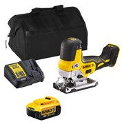 Dewalt DCS335ITS Dewalt DCS335ITS 18V XR Brushless Body Grip Jigsaw with 1 x 4Ah Battery, Charger and Bag