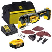 Dewalt DCS355ITS Dewalt DCS355ITS 18V XR Brushless Multi Tool with 1 x 4Ah Battery, Charger, Bag and Accessory Set