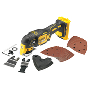 Dewalt DCS355 Dewalt 18v XR Brushless Multi-Tool (Body Only) with 29 Accessories