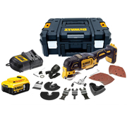 Dewalt DCS355P1 Dewalt DCS355P1 18V XR Brushless Multi Tool with 1 x 5Ah Battery, Charger and Case