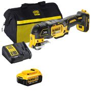 Dewalt DCS356ITS Dewalt DCS356ITS 18V XR Brushless Multi Tool with 1 x 4Ah Battery, Charger, Bag and Accessory Set