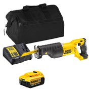 Dewalt DCS380ITS 18v XR Reciprocating Saw with 1 x 4Ah Battery, Charger and Bag
