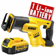 Dewalt DCS387N4 Dewalt 18v 4.0Ah XR Li-ion Compact Recip Saw Body + 1 x 4.0ah Battery