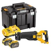 Dewalt DCS389X2 Dewalt DCS389X2 54V XR FLEXVOLT High Power Reciprocating Saw - with 2x 3Ah Batteries, Charger & Case