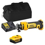 Dewalt DCS551ITS Dewalt DCS551ITS 18V XR Drywall Cut-Out Tool with 1 x 4Ah Battery, Charger and Bag