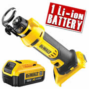 Dewalt DCS551N4 Dewalt 18v Li-ion XR Drywall Cut-Out Body + 1 x 4.0ah Battery
