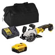 Dewalt DCS571ITS 18v XR Brushless 115mm Circular Saw with 1 x 4Ah Battery, Charger and Bag