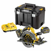 Dewalt DCS576T2 Dewalt DCS576T2 54v XR FLEXVOLT 190mm Circular Saw with 2 x 2Ah Batteries, Charger and Case