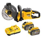 Dewalt DCS690X2 54v XR FLEXVOLT 230mm Cut Off Saw with 2 x 3Ah Batteries and Charger