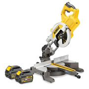 Dewalt DCS777T2 54v XR FLEXVOLT 216mm Compound Mitre Saw with 2 x 2Ah Batteries and Charger