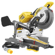 Dewalt DHS780NPK1 54v XR FlexVolt Li-ion Cordless 305mm Mitre Saw (Body) c/w 110v Mains Adaptor