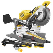 Dewalt DHS780NPK3 54v XR FlexVolt Li-ion Cordless 305mm Mitre Saw - Body + Mains Adaptor