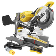 Dewalt DHS780T2PK1 54v XR FlexVolt Li-ion Cordless 305mm Mitre Saw c/w 110v Adaptor