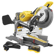 Dewalt DHS780T2PK2 54v XR FlexVolt Li-ion Cordless 305mm Mitre Saw c/w 240v Adaptor