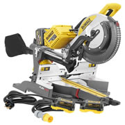 Dewalt DHS780T2PK3 54v XR FlexVolt Li-ion Cordless 305mm Mitre Saw c/w 110v/240v Adaptor