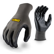Dewalt DPG66 Smooth Dip Nitrile Grip Gloves - Large