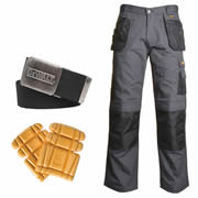 Dewalt DRT KIT Dewalt Ripstop Trousers with Holster Pockets (Grey/Black) Kit
