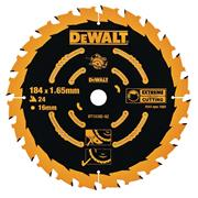 Dewalt DT10302-QZ Extreme Framing Blade 184mm x 16mm 24T For Corded Machines