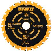 Dewalt DT10304-QZ Extreme Framing Blade 190mm x 30mm 24T For Corded Machines