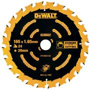 Dewalt DT10624-QZ Extreme Framing Blade 165mm x 20mm 24T For Cordless Machines