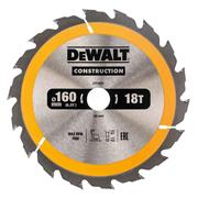 Dewalt DT1931QZ Dewalt Construction Saw Blade 160mm x 20mm 18T