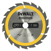 Dewalt DT1933QZ Dewalt Construction Saw Blade 165mm x 20mm 18T
