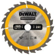 Dewalt DT1934-QZ Dewalt Construction Saw Blade 165mm x 20mm 24T