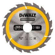 Dewalt DT1936QZ Dewalt Construction Saw Blade 165mm x 30mm 18T