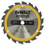 Dewalt DT1938QZ Dewalt Construction Saw Blade 184mm x 16mm 18T