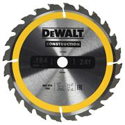 Dewalt DT1939-QZ Dewalt Construction Saw Blade 184mm x 16mm 24T