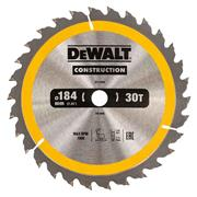 Dewalt DT1940QZ Dewalt Construction Saw Blade 184mm x 16mm 30T