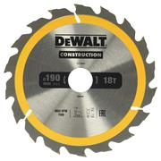 Dewalt DT1943QZ Dewalt Construction Saw Blade 190mm x 30mm 18T