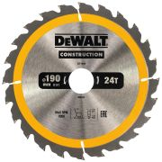 Dewalt DT1944-QZ Dewalt Construction Saw Blade 190mm x 30mm 24T
