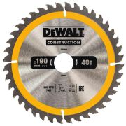 Dewalt DT1945-QZ Dewalt Construction Saw Blade 190mm x 30mm 40T