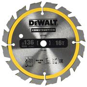 Dewalt DT1946QZ 136mm x 10mm 16T Construction Blade (DC)