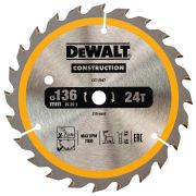 Dewalt DT1947-QZ Dewalt Construction Saw Blade 136mm x 10mm 24T Cordless