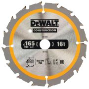 Dewalt DT1948-QZ Dewalt Construction Saw Blade 165mm x 20mm 16T Cordless