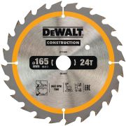 Dewalt DT1949-QZ Dewalt Construction Saw Blade 165mm x 20mm 24T Cordless